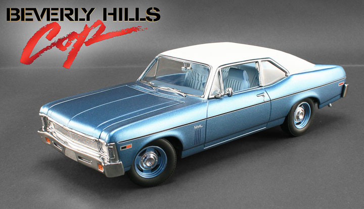 18802 - 1:18 GMP - 1:18 Beverly Hills Cop (1984) - 1970 Chevrolet Nova - Blue with White Roof