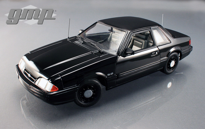 18805 - 1:18 GMP - 1:18 1992 Ford Mustang 5.0 SSP FBI Pursuit car, Blacked out